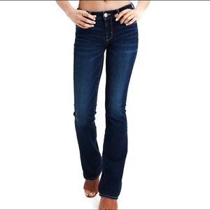 AEO Super Stretch Skinny Kick Bootcut Jeans